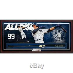 Aaron Judge New York Yankees Framed Signed Bat Collage Shadowbox Fanatics