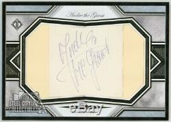 Andre The Giant 2019 Topps Transcendent Oversized Framed Cut Autograph 1/1
