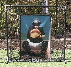 BP Catcher- Baseball Softball Pitching Target Pitcher's Training Aid withFrame