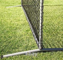 Baseball Safety Screen Net Batting Cage Pitching Hitting 8' Square Steel Frame
