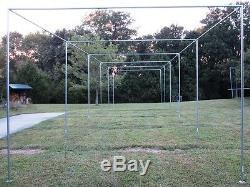 Batting Cage Frame Kit 12' x 12' x 55' EZ UP & DOWN Baseball Softball Frame Kit