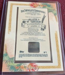 Bob Feller 2006 Allen & Ginter Framed AUTO Card # AGA-BF, Cleveland Indians HOF
