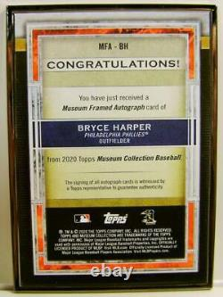 Bryce Harper #5 /5 Black Frame On Card Silver Auto Topps Museum Collection 2020