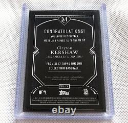Clayton Kershaw 2017 Topps Museum Black Framed Auto 5/5