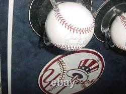 DEREK JETER & ALEX RODRIGUEZ signed auto baseball ball GAME USED BASE framed JSA