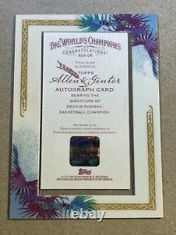 Dennis Rodman 2007 Topps Allen & Ginter Framed Auto Red Ink /10 Autograph