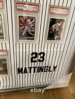 Don Mattingly Yankees Framed Topps Cards Psa 10 Gem Mint Career Collection