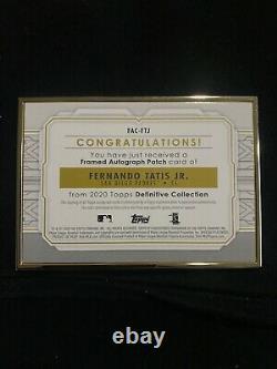 FERNANDO TATIS JR 2020 Topps Definitive Collection Framed Patch Auto /15