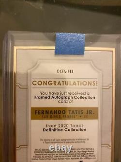 FERNANDO TATIS JR Topps Definitive 2020 #DCFA-FTJ Gold Framed Auto Autograph /30