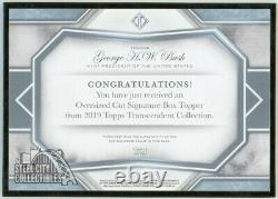 George H. W. Bush 2019 Topps Transcendent Oversized Framed Cut Autograph 1/1