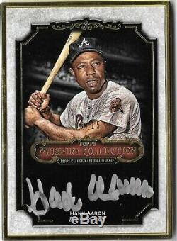 HANK AARON 2012 Topps Museum Gold Framed Autograph Auto 03/15 Braves