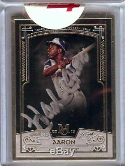 Hank Aaron 2016 Topps Museum Collection Framed Gold Auto Braves #MCA-HA 08/15