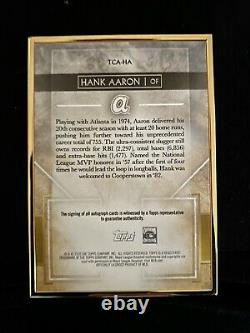 Hank Aaron 2020 Transcendent Collection Auto Gold Framed AUTOGRAPH 10/15