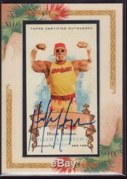 Hulk Hogan Auto /200 Sp 2006 Topps Allen & Ginter Framed Mini Autograph