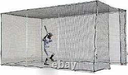 Kapler Baseball Batting Cage Practice Net Movable Wheeled&High Strength Frame