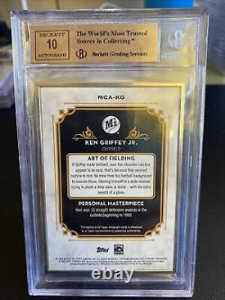 Ken Griffey Jr 2014 Museum Collection Framed Silver Auto BGS 9.5 01/10