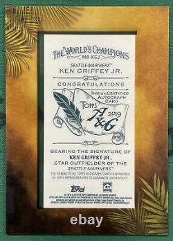 Ken Griffey Jr 2019 Topps Allen & Ginter Framed Auto On Card Autograph #MA-KGJ