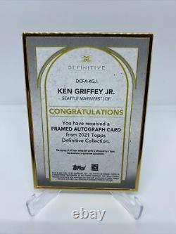 Ken Griffey Jr 2021 Topps Definitive Framed Auto #12/15 Mariners Autograph