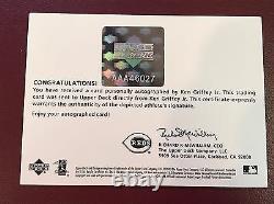 Ken Griffey Jr Auto 2003 UD Authentics Patch Framed Autograph SP/325 HOF Reds