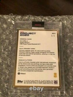 Ken Griffey Jr Topps Project 2020 #201 Gold Frame 1/1 By Fucci