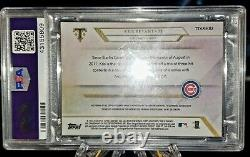 Kris Bryant Autographed/ Signed 2018 TOPPS TRIPLE THREADS RELIC CARD GEM MT 10