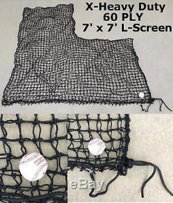 L-Screen 6' x 6' Professional Baseball Safety Frame & #42-60Ply Pitcher L Screen