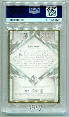 MIKE TROUT 2019 Topps Transcendent Gold Frame Framed Auto Autograph 24/25 PSA 8