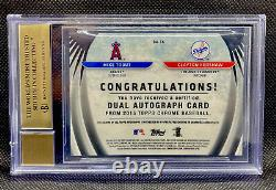 MIKE TROUT CLAYTON KERSHAW 2015 Topps Chrome AUTO Refractor #1/5 BGS DOUBLE 10s
