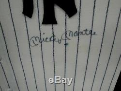 Mickey Mantle Hand Signed Auto Autograph Jersey New York Yankees Framed JSA Letr