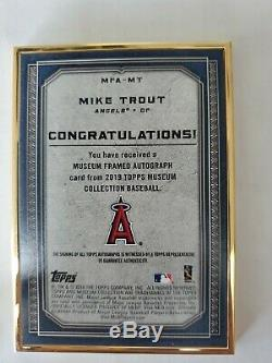 Mike Trout 2019 Topps Museum Gold Frame On Card Auto With Gold Ink 4/10