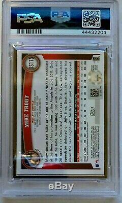 Mike Trout Autograph PSA DNA 7 2014 Topps Framed Rookie Reprint /199 Auto MLB