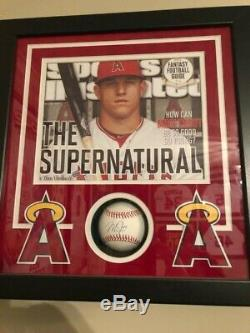 Mike Trout Signed Auto ROMLB Baseball Framed MLB Authenticated