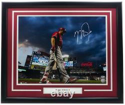 Mike Trout Signed Framed 16x20 L. A. Angels Baseball Photo MLB Hologram