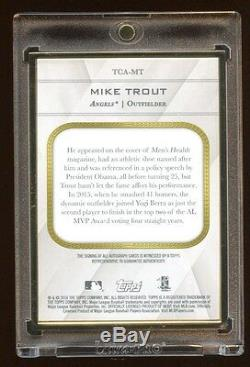 Mike Trout Topps Transcendent Auto /10 14-15 Asg Mvp Gold Frame $52k A Set