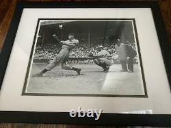 NY Yankees Joe Dimaggio Signed Auto and Framed Baseball Photo PSA LOA