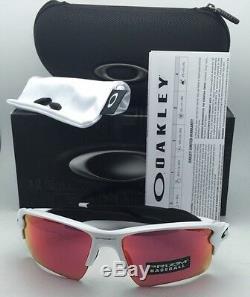 New OAKLEY Sunglasses FLAK 2.0 XL OO9188-03 White Frame with Prizm Baseball Lenses