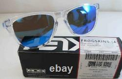 Oakley Sunglasses Frogskins Crystal Clear Frame Sapphire Iridium New Asian Fit