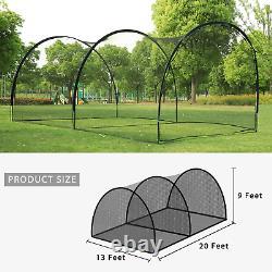 Oriengear 20Ft Baseball Batting Cage Net And Frame Softball Hitting Cage Netting