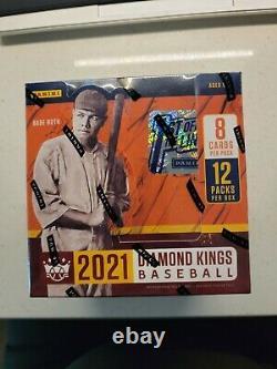 Panini 2021 Diamond Kings Baseball Trading Cards Hobby Box First Off The Line