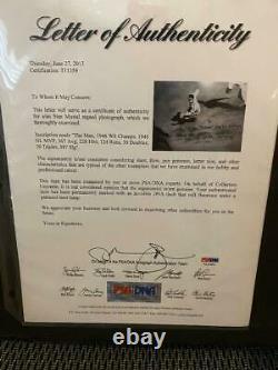 RARE Cardinals Stan Musial Signed and Framed Baseball Photo PSA/DNA LOA