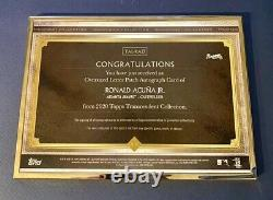 RONALD ACUNA JR 2020 Transcendent Framed Oversized Game Used Patch AUTO 1/1