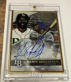 Randy Arozarena 2020 Topps Gold Label Gold Frame Auto RC Tampa HOT ALCS MVP