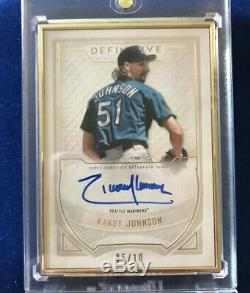 Randy Johnson 2019 Topps Definitive Gold Frame Auto /10 Mariners Nice