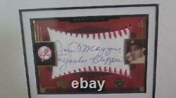 Rare 2001 Sweet Spot Joe DiMaggio Autograph Plus Sport Sept 1946 Magazine Framed