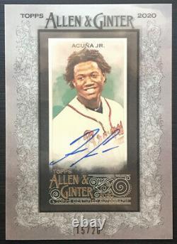 Ronald Acuna Jr 2020 Topps Allen & Ginter X framed auto autograph 15/20 Braves
