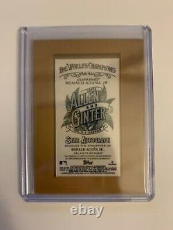Ronald Acuna Jr. 2021 Topps Allen & Ginter Framed On Card Auto Autograph BRAVES