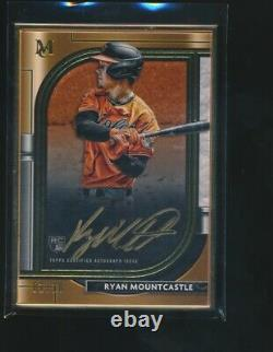 Ryan Mountcastle 2021 Topps Museum Collection Gold Framed Rc Auto 1/10