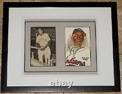 Satchel Paige Signed Autographed Framed Baseball Photo Postcard JSA Auction LOA