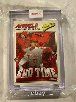Shohei Ohtani 1 of 1! Topps Project70 1977 by Quiccs Gold Frame Edition
