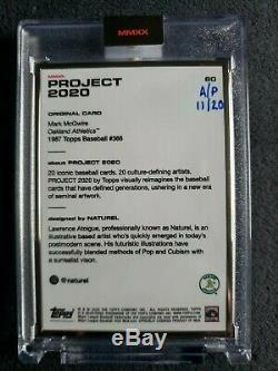 TOPPS Project 2020 #60 1987 Framed Artist Proof 11/20 MARK McGWIRE by Naturel AP
